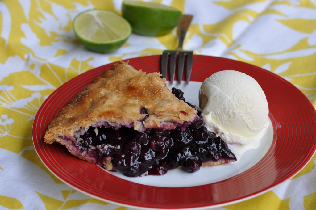 Double Crust Blueberry Lime Pie