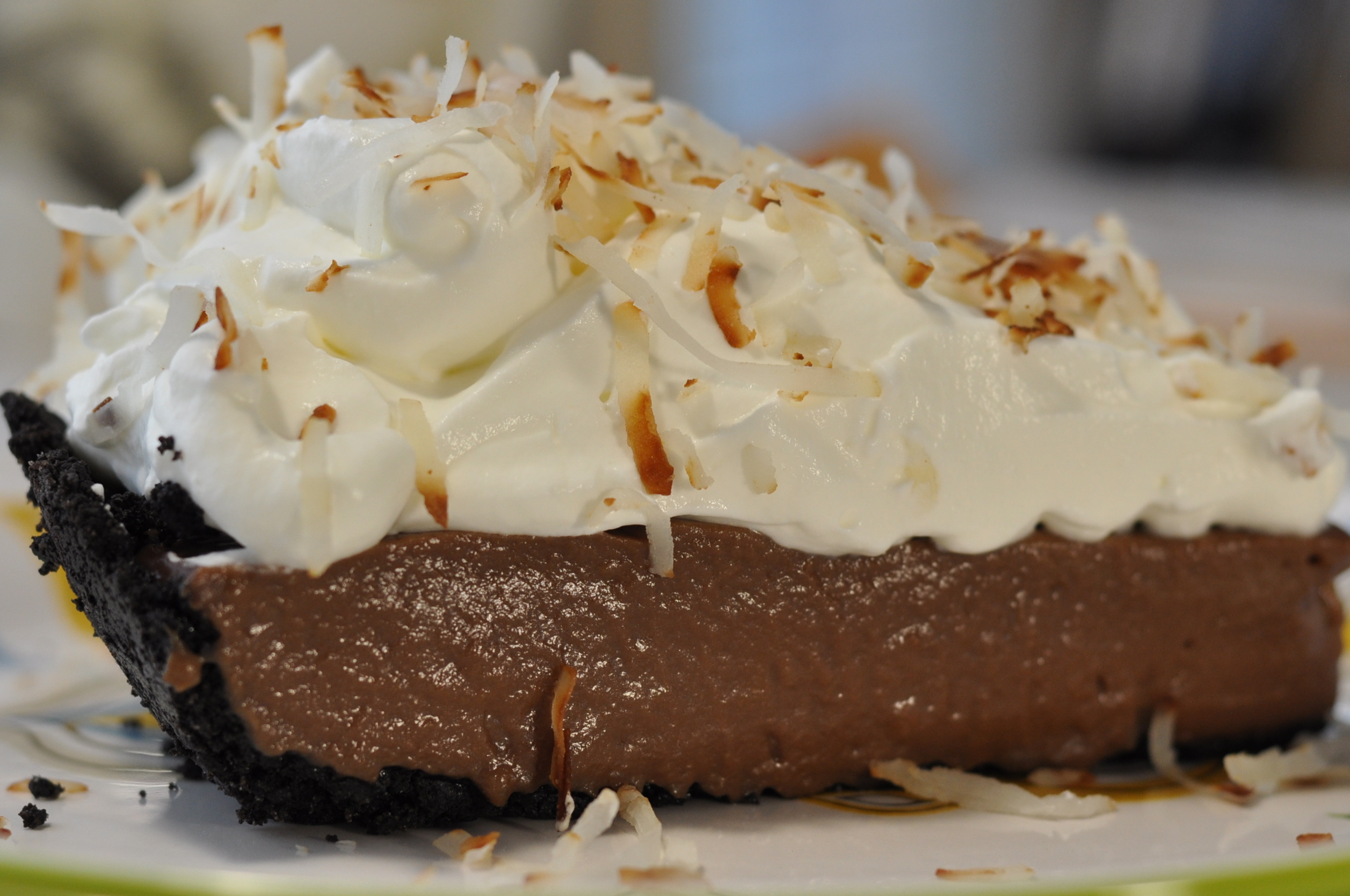 Chocolate Cream Pie with Oreo Crumb Crust from Ken ...