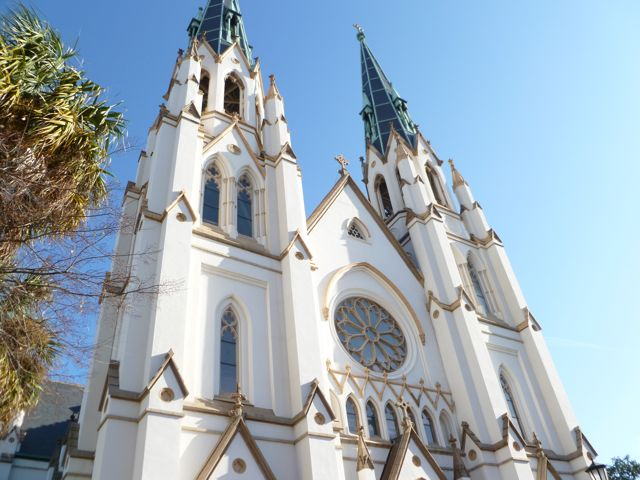 One of Savannah beautiful historic churches, St. John the Baptist