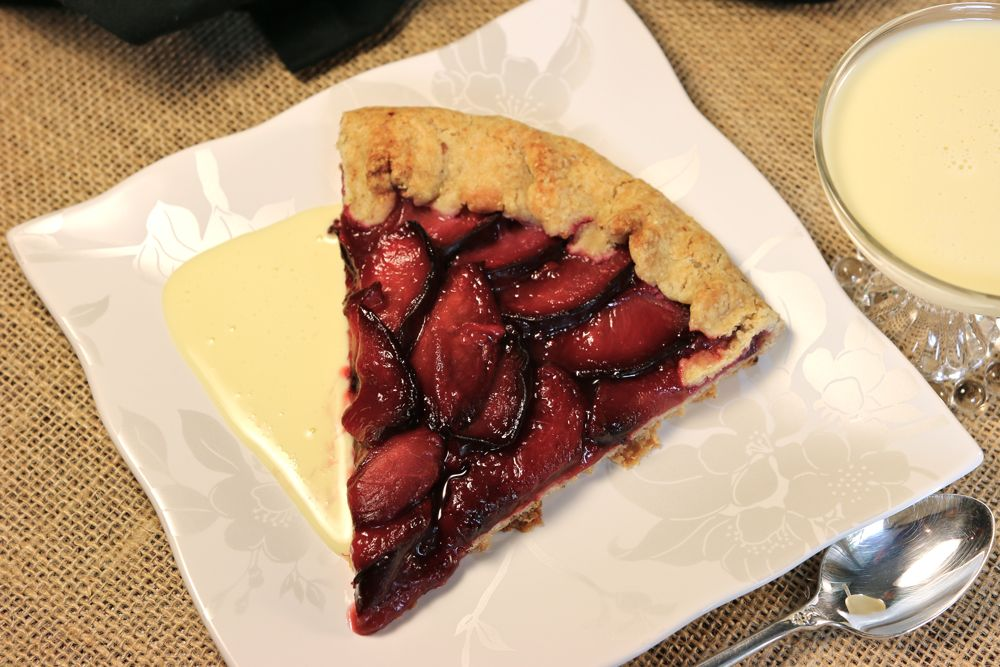 Plum Tart with Almond Crust