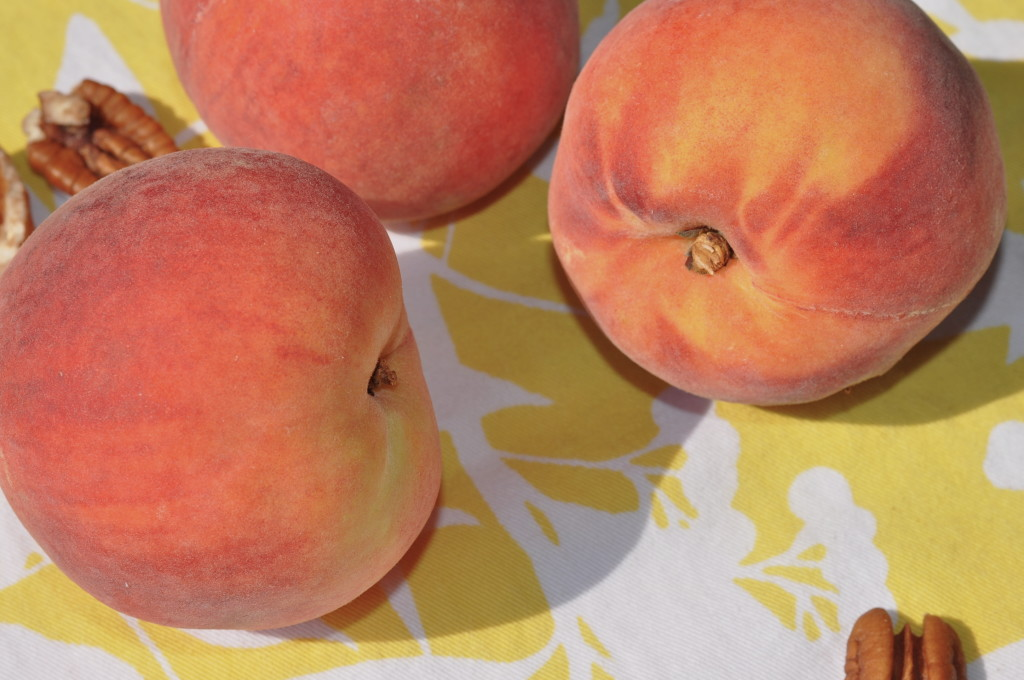 Fresh peaches at The Pie Academy