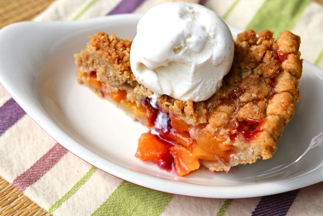 Peach Blueberry Pie from The Pie Academy