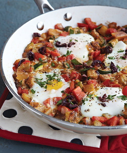Ratatouille with Poached Eggs from COMFORT FOOD