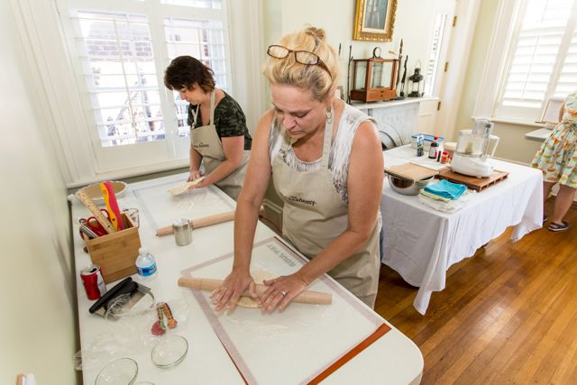 Rolling dough at The Pie Academy's Lowcountry Pie Getaway