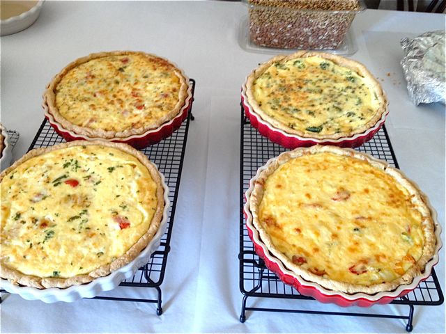 The class blew me away with the variety of delectable quiche they dreamed up.