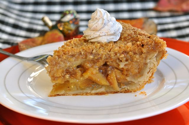 Apple Pear and Fig Pie with Hazelnut Crumb Topping at ThePieAcademy.com