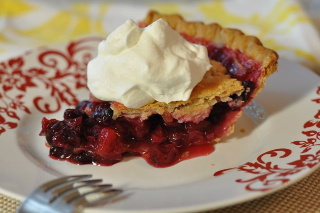 Cranberry Apple Cherry Pie at ThePieAcademy.com