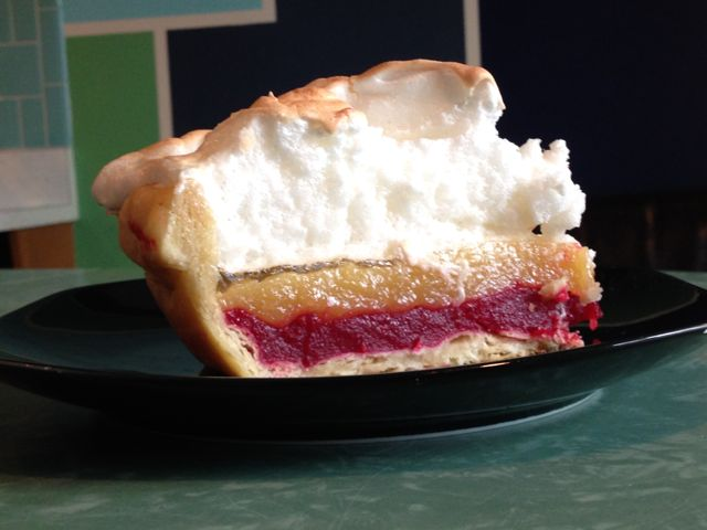 Shelby's Cranberry-Lemon Meringue Pie at ThePieAcademy.com