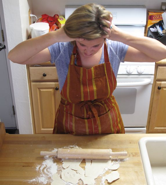 Don't be this frustrated pie maker