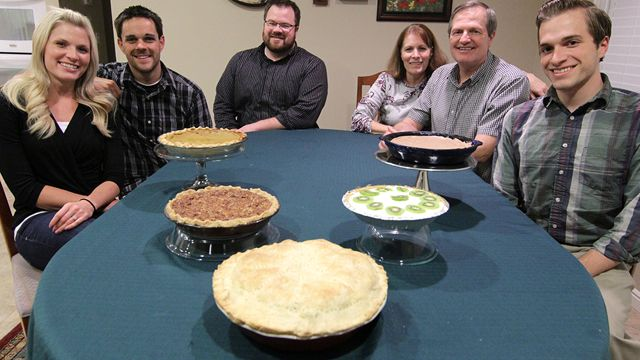 Nelsen family and pies