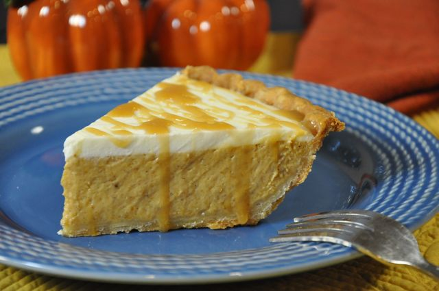 Pumpkin Cheesecake Pie at ThePieAcademy.com