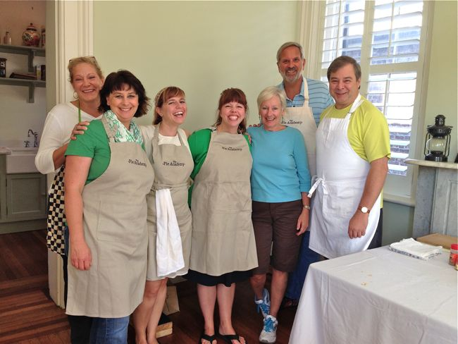 New friends, gorgeous pies (below)...there was plenty to smile about at last year's Lowcountry Pie Getaway