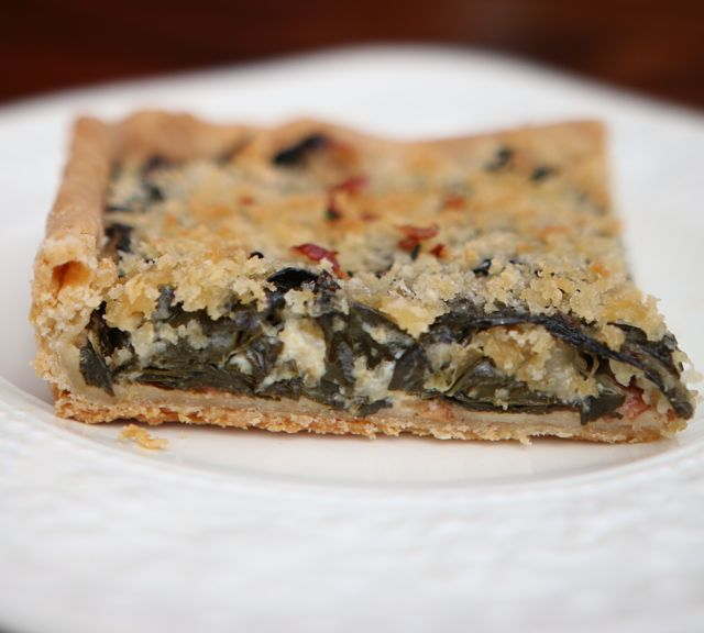 Collard Tart au Gratin at The Pie Academy