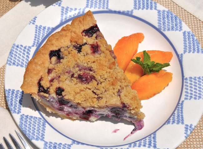 Blueberry Sour Cream Crunch Pie at ThePieAcademy.com