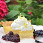 Lemon Chess Pie with Blueberries