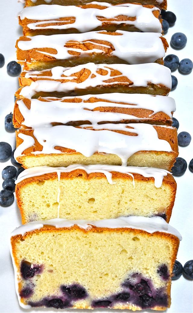 Blueberry Cream Cheese Pound Cake at ThePieAcademy.com
