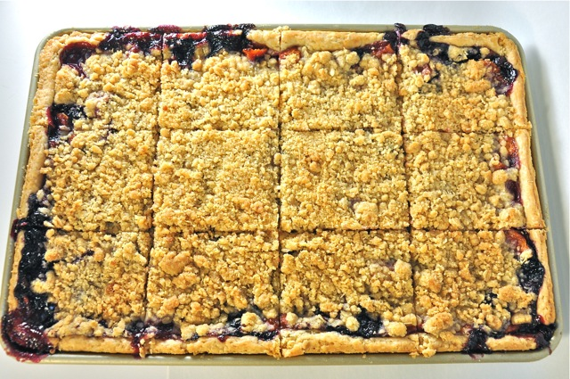 Peach Blueberry Slab Pie at The Pie Academy