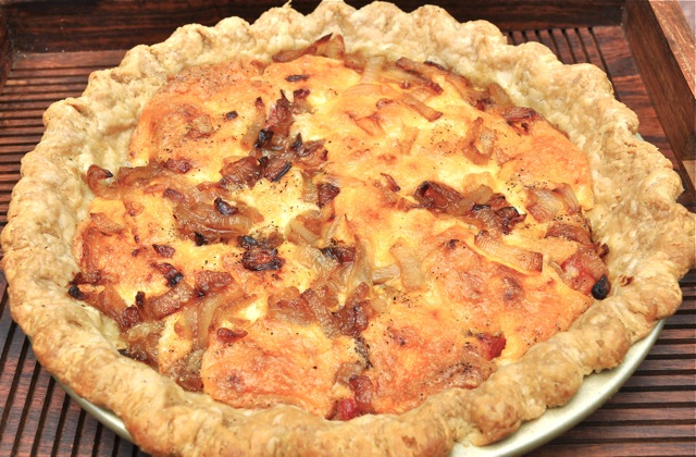 Savory Fresh Tomato and Basil Pie - try this peak-of-summer dinner pie ...