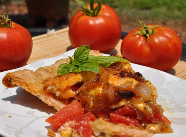 Fresh Tomato and Basil Pie at ThePieAcademy.com