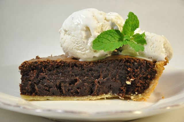 Mint Choc Brownie Pie