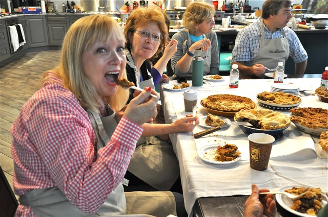 Ginny and Janet at The Pie Academy's Lowcountry Pie Getaway 2015 in Charleston