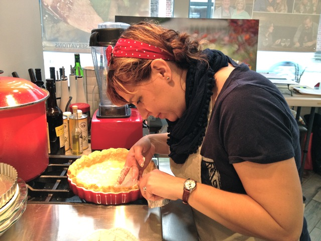 Megan and her quiche at The Pie Academy's Lowcountry Pie Getaway 2015