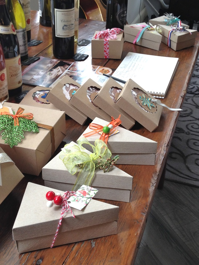 Pie boxes at The Pie Academy's Lowcountry Pie Getaway 2015 Charleston