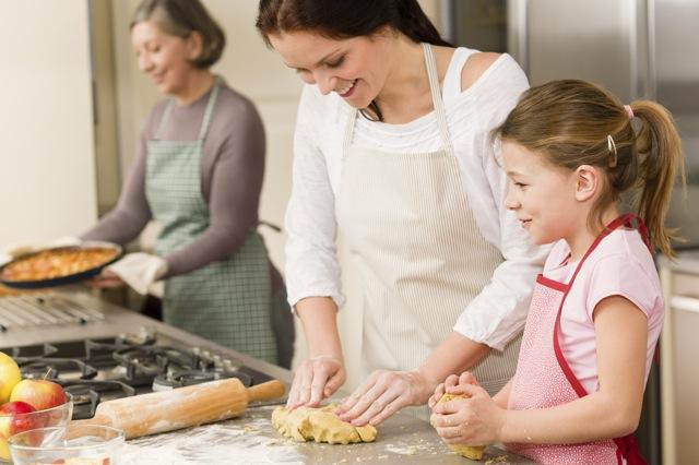 Family Pie Making