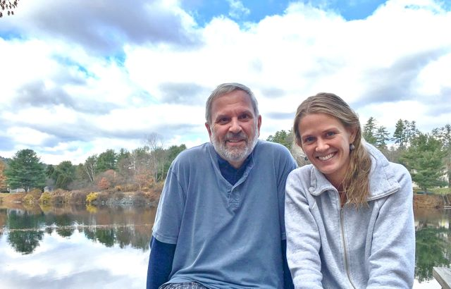 Ken Haedrich and daughter Tess
