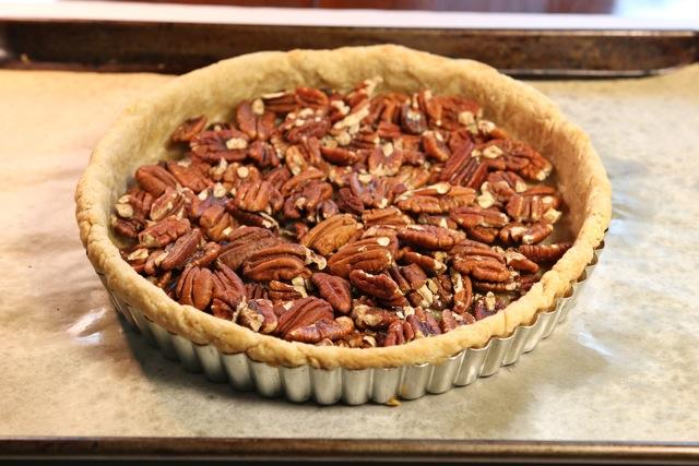 Prebaked pecan pie shell