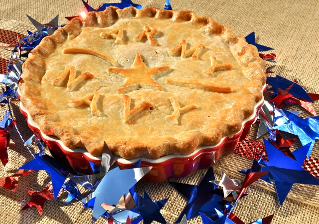 A meat pie - tourtiere - for football playoff season from The Pie Academy