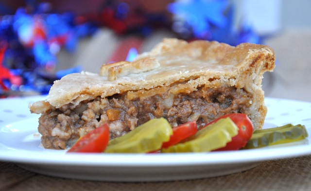 A meat pie - tourtiere - for playoff season from The Pie Academy
