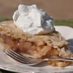 Maple Glazed Pear Pie