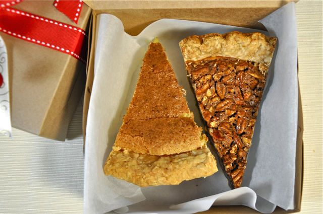 "Send your guests home with sweet holiday treats in our 6""x6"" pie boxes"