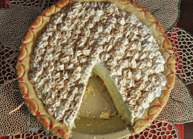 Eggnog Cream Pie at ThePieAcademy.com