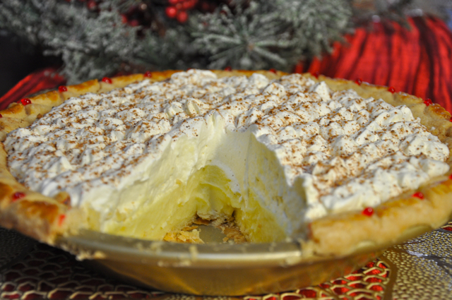 Eggnog Cream Pie at The Pie Academy
