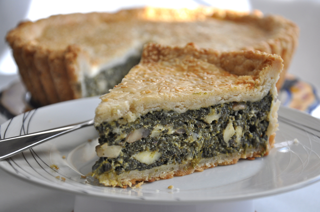Double Crust Kale and Mushroom Pie with Seeded Crust at The Pie Academy