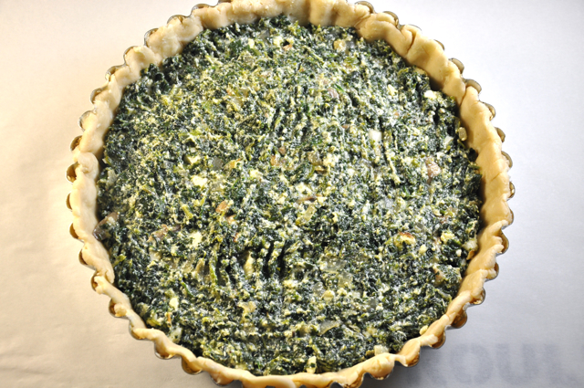 Kale and mushroom filling in our seeded crust...at The Pie Academy