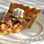 Maple Walnut Vinegar Pie