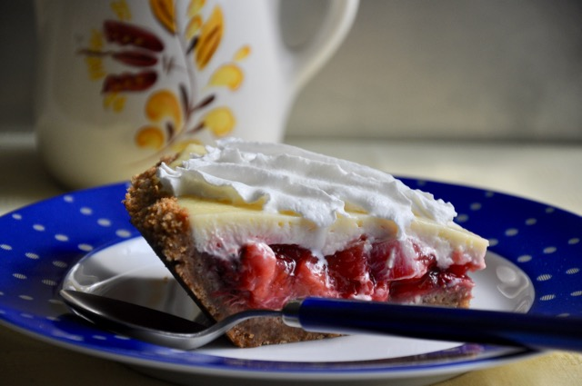Strawberry Rhubarb Custard Pie at The Pie Academy