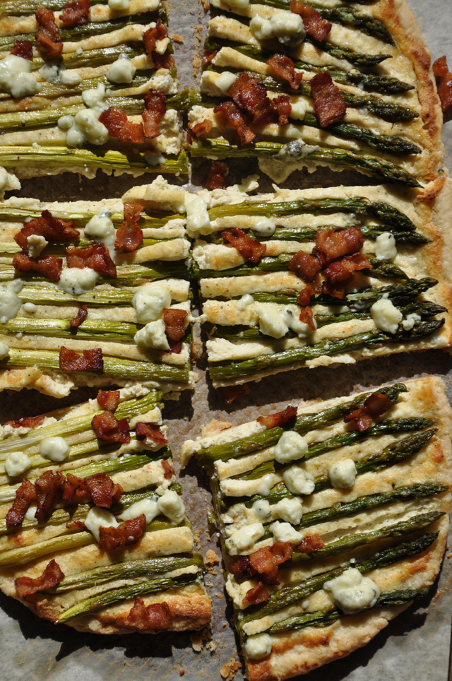 Asparagus Tart with Bacon and Blue Cheese at The Pie Academy