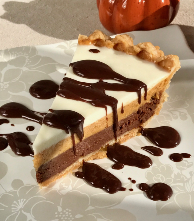Triple Layer Chocolate Pumpkin Pie