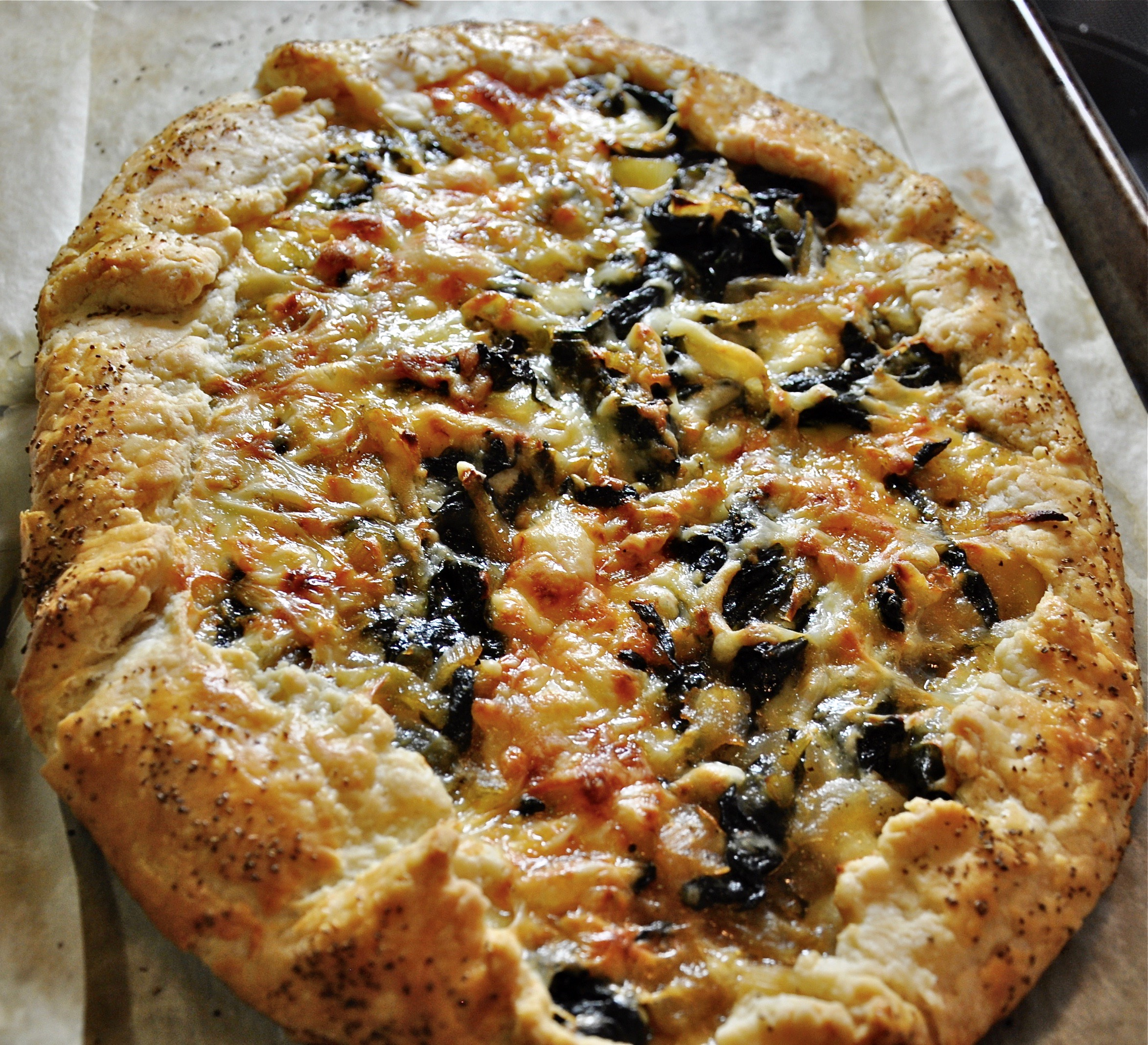 Swiss Chard Galette from The Harvest Baker by Ken Haedrich