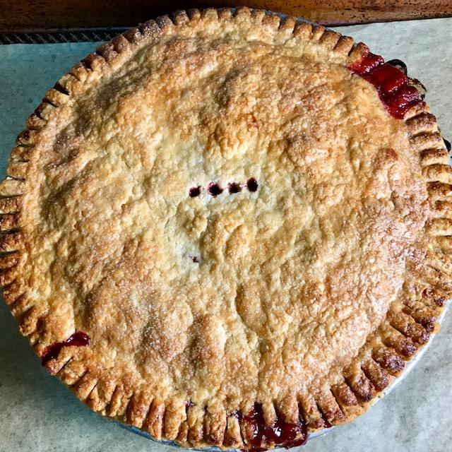 Freezer Fruit Pie courtesy Ken Haedrich, dean of The Pie Academy