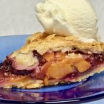 Fresh Peach and Cherry Pie