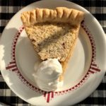 Toasted Almond Coconut Custard Pie