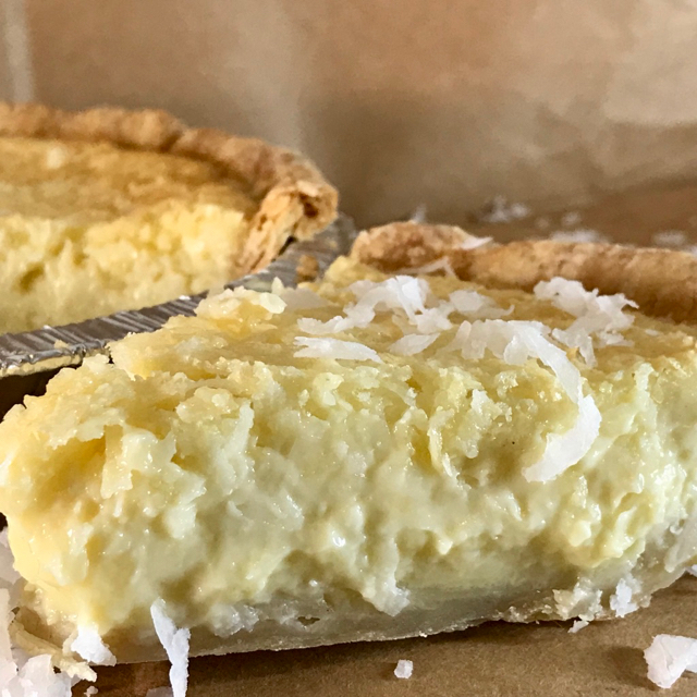 Creamy Coconut Custard Pie