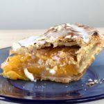 Glazed Peach & Almond Pie